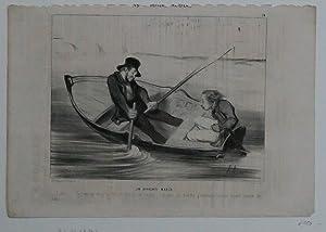 Les Canotiers Parisiens; Un Apprenti Marin, Karikatur,: Daumier, Honoré; Chez Pannier R. Du ...