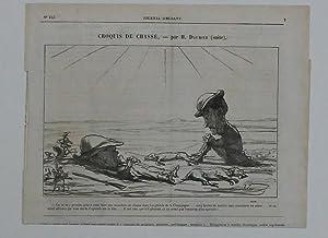 Croquis de chasse Par H. Daumier (suite),: Nach Daumier, Unleserlich