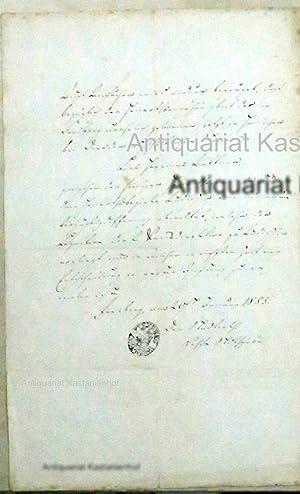 o.T, amtliche Handschrift vom 20. Januar 1855, eine Personensache betreffend, mit ...