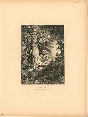 Sommerabend. (Zu Tieck's Verkehrter Welt.),: Original- Radierung von Ludwig Richter,Ludwig