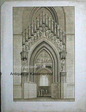 Das Hauptportal.,Architekturansicht Detail,: Schwechten, Friedrich Wilhelm