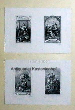2 Shakespeare Illustrationen & 2 Literatur Illustrationen;4 Titelbilder 1. Antonius u.Cleopatra...
