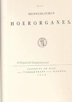 2 Bände in einem Buch. 1. Abbildungen des menschlichen Hoerorgans.,2. Abbildungen der menschlichen ...