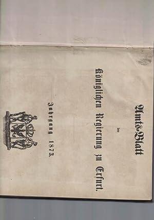 Amtsblatt der königlichen Regierung zu Erfurt.,Jahrgang 1873.,: Diverse