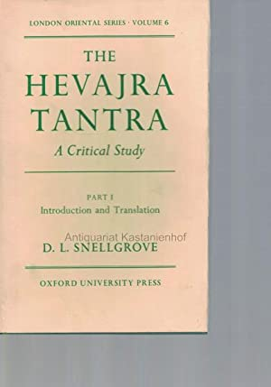 Konvolut 2 Bücher: The Hevajra Tantra. A Critical Study.,1. Part I. Introduction and ...
