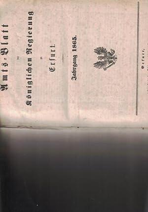 Amtsblatt der königlichen Regierung zu Erfurt.,Jahrgang 1865.: Diverse