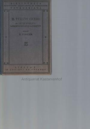 M. Tulli Ciceronis scripta quae manserunt omnia.: Ziegler, K.