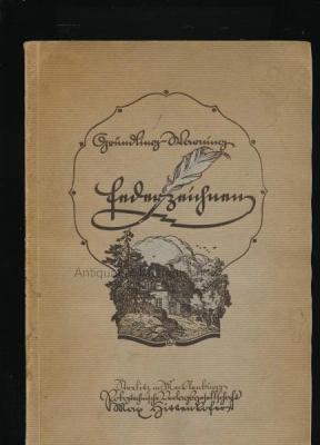 Federzeichnen,100 Abbildungen, 4 Tafeln,,: Gründling, Paul; Warning, Ludwig