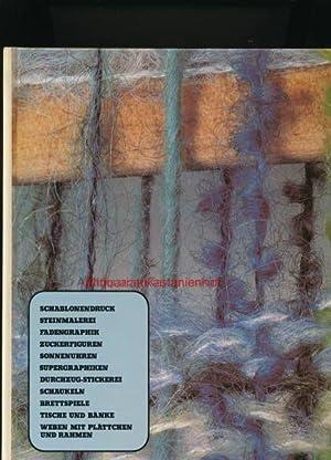 Schablonendruck, Steinmalerei, Fadengraphik, Zuckerfiguren, Sonnenuhren, Supergraphiken, Durchzug-Stickerei,: Wellmann, Hans Heinrich