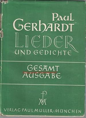 Paul Gerhardt. Gesamtausgabe,Lieder und Gedichte.: Gerhardt, Paul