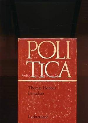 Leviathan,oder Stoff, Form und Gewalt eines bürgerlichen und kirchlichen Staates: Hobbes, Thomas