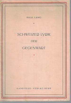 Schweizer Lyrik der Gegenwart: Lang, Paul