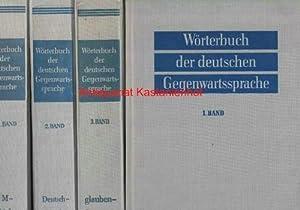 6 (sechs) Bände: Wörterbuch der deutschen Gegenwartssprache,Band 1: A - deutsch: Klappenbach, Ruth;...