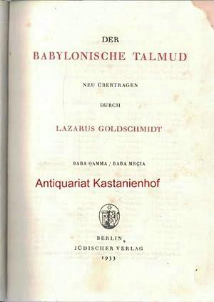 Der babylonische Talmud. Band VII,Nach der ersten zensurfreien Ausgabe unter Berücksichtigung der ...