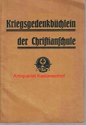 Kriegsgedenkbüchlein der Christianschule: Habenicht, Karl