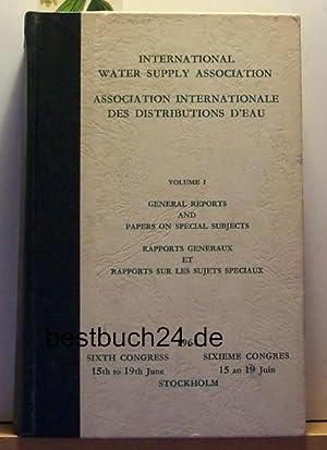 Konvolut 2 Bücher International Water Supply Association. Sixth congress 15th to 19th ,June ...