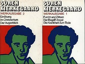 Konvolut zwei (2) Bände: Werkausgabe;Band I: Furcht: Kierkegaard, Sören
