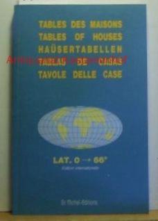 Tables des Maisons. Placidus lat. 0° ->