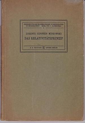 Das Relativitätsprinzip,Eine Sammlung von Abhandlungen; Mit Anmerkungen von A. Sommerfeld und ...