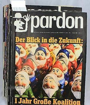 Pardon, die deutsche satirische Monatsschrift;,6. Jahrgang, 1967, Heft 1 bis 12 - komplett;: Nikel,...