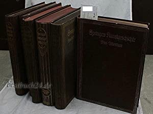 Konvolut 6 Bände Springers Kunstgeschichte - Handbuch der Kunstgeschichte,Erster (1.) Band Das...