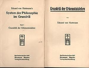 Bücher Grundriß der Erkenntnislehre,System der Philosophie im Grundriß - Band eins...