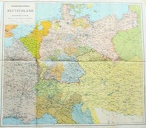 Eisenbahn-Uebersichtskarte von Deutschland,und den angrenzenden Ländern -: Maßstab 2900000