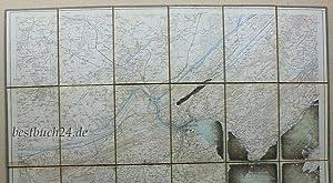 Luzern,Maßstab 1:25000 - Ueberdruck au dem topographichen Atlas der Schweiz - Blatt 202, 203,...