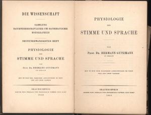Physiologie der Stimme und Sprache,Mit 92 zum Teil farbigen Abbildungen im Text und auf zwei Tafeln...