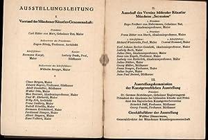 Münchener Kunstausstellung 1924 im Glaspalast,1. Juni bis 30. September 1924, Katalog,
