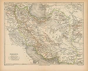 Persien von 1874,Maßstab 1:8.000.000,,,: Historische Landkarte KEIN REPRINT