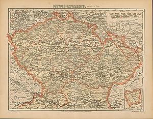 Deutsch - Oestereich nördlicher Theil von 1864,Maßstab 1:700.000,,,: Historische Landkarte KEIN ...