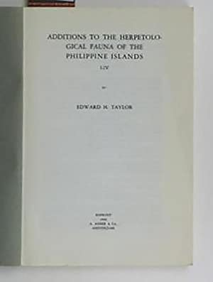 Additions to the Herpetological Fauna of the Philippine Islands I - IV,Reprinted with Courtesy of ...