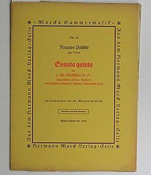 Sonata quarta Nr.15 Partitur und drei Stimmen,für: Paisible, Jacques (um