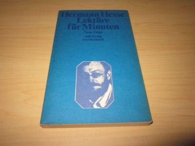 Lektüre für Minuten. Gedanken aus seinen Büchern: Hesse, Hermann
