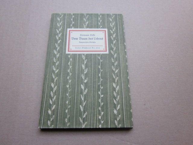 Vom Baum des Lebens. Ausgewählte Gedichte. Insel-Bücherei: Hesse, Hermann