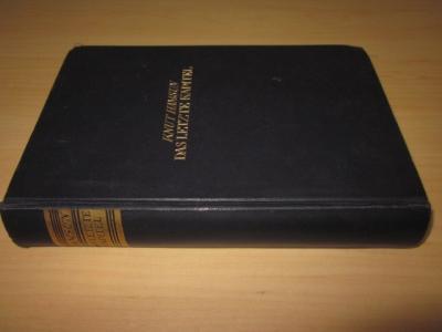 Das letzte Kapitel. Roman: Hamsun, Knut
