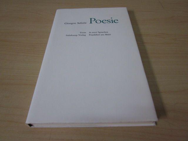 Poesie. Griechisch-deutsch: Seferis, Giorgos
