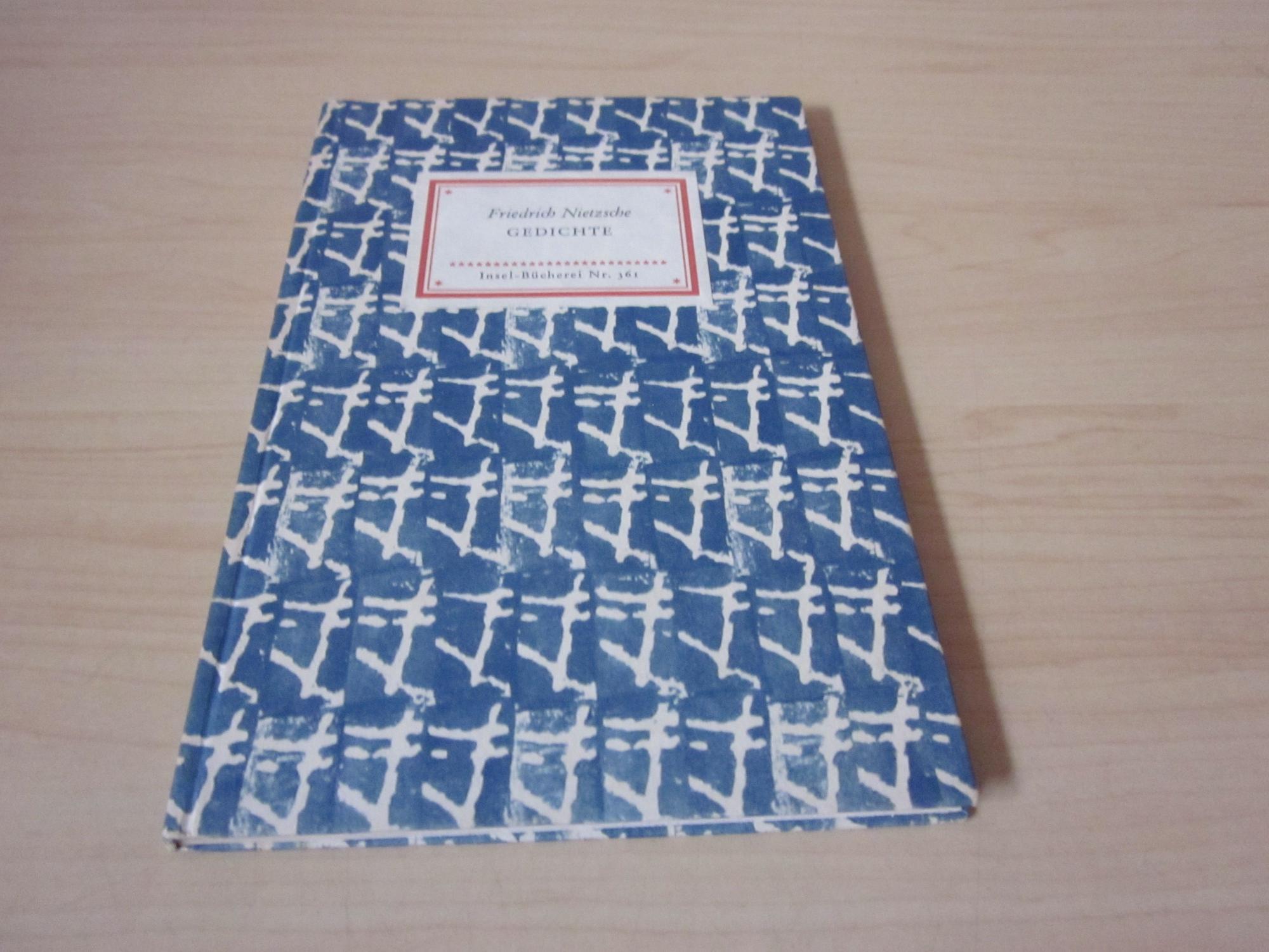 Gedichte. Insel-Bücherei Nr. 361: Nietzsche, Friedrich