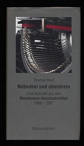 323d9a22b56414 Nebenbei und obendrein   Eine Auswahl aus den Manufactum-Hausnachrichten  1988 - 2007  Hoof