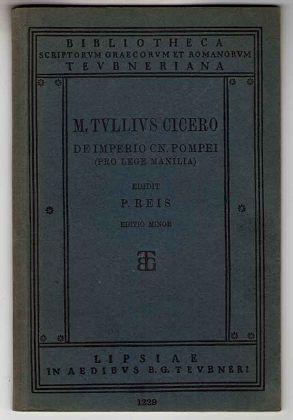 M. Tulli Ciceronis Oratio de Imperio Cn.: Reis, P.: