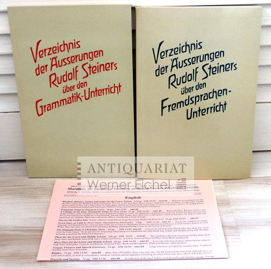 2 Titel - Verzeichnis der Äusserungen Rudolf: Rudolf Steiner