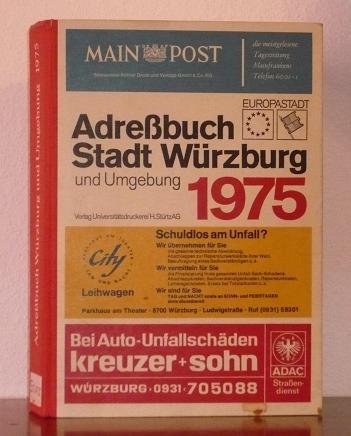 Adreßbuch 1975 der Stadt Würzburg (Europastadt) und