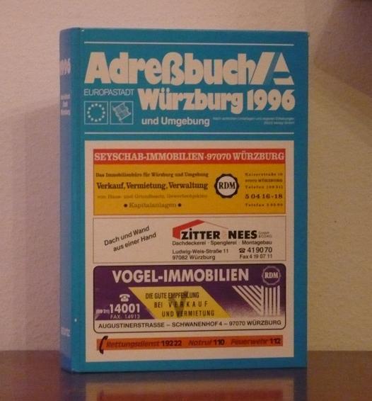 Adreßbuch 1996 der Stadt Würzburg (Europastadt) und