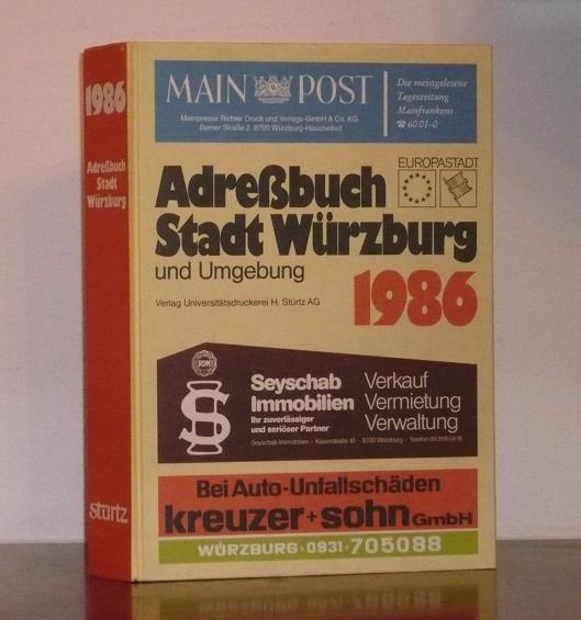 Adreßbuch 1986 der Stadt Würzburg (Europastadt) und