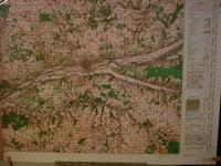 Carte ( Map ) TOURS , CHINON , France : For Use By War and Navy Departement Agencies Only , Not f...