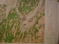 Carte ( Map ) GRENOBLE , LE VERCORS , France : For Use By War and Navy Departement Agencies Only ...