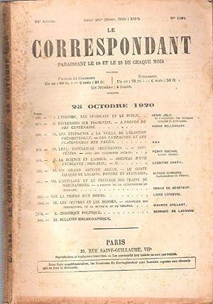 Le Correspondant : Religion - Philosophie -: JOLY Henri ,