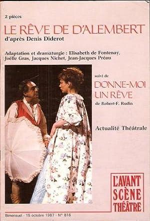 Le Rêve De D'Alembert Suivi De Donne-moi: DIDEROT Denis ,
