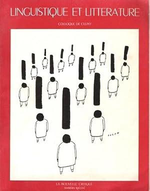 Linguistique et Littérature : Colloque De Cluny ( 16 - 17 Avril 1968 ) : La Nouvelle ...